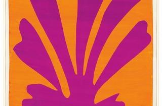 Henri Matisse ('Violet Leaf on Orange Background (Palmette)' 1947)