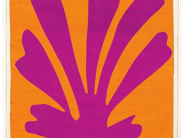 Henri Matisse ('Violet Leaf on Orange Background (Palmette)' 1947)