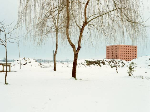Luigi Ghirri (Cemetery of San Cataldo, Modena; the ossuary in winter, 1986)