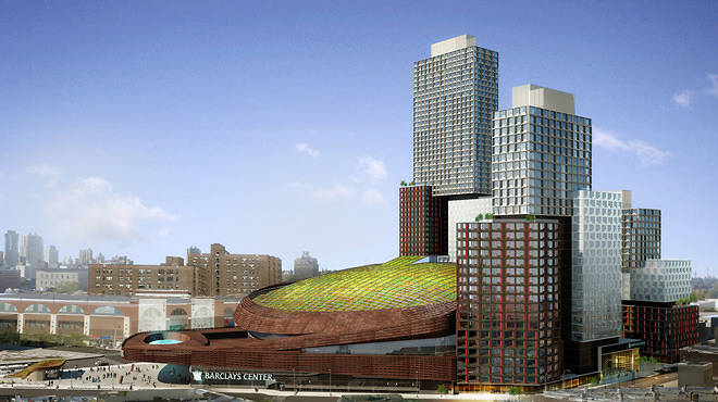 Rendering of Barclays Center's green roof