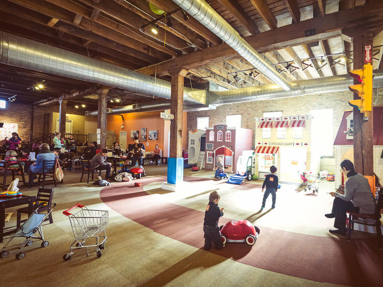 Who needs a finished basement when the city has play spaces galore?