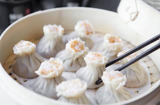 Shrimp and pork shao mai at Din Tai Fung