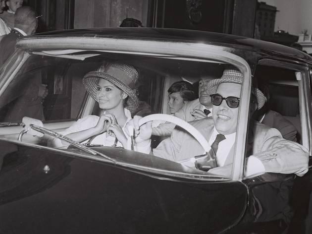 Marcello Geppetti (Carlo Ponti, Sophia Loren and Vittorio De Sica, Rome, 1961)