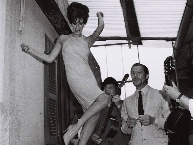 Marcello Geppetti (Raquel Welch and Marcello Mastroianni at Cinecitta on the set of the movie 'Shoot Loud, Louder, I do not understand ...', 1966)