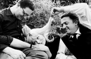 Arturo Zavattini  (Set of 'La Dolce Vita'. Assistant cameraman Ennio Guarnieri, Nico Otzak and Federico Fellini, 1960 )