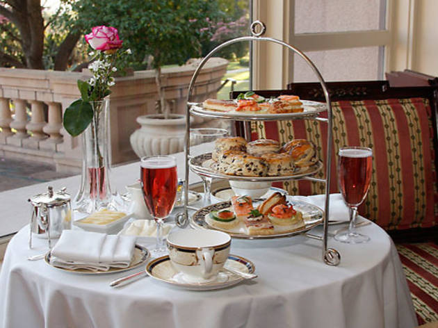 Tea service at the Langham Hotel Pasadena