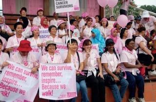 Avon Kiss Goodbye to Breast Cancer Charity Walk 2012
