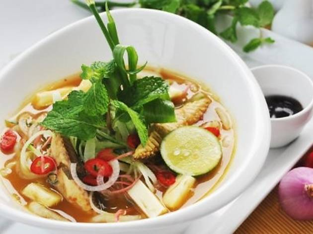Asam laksa lunch special at SOULed OUT