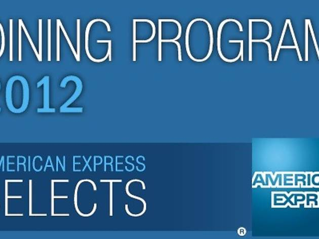 American Express Selects Dining Program 2012