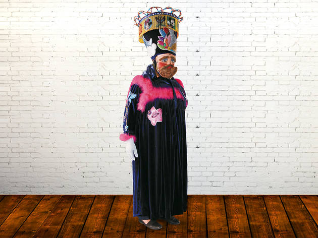 Eloy Carrillo, mayordomo de comparsa chinela en el Ajusco