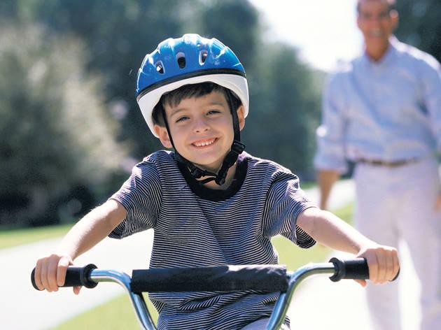 Bicicleta, niño, kids