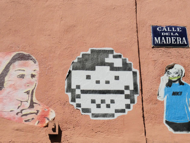 Arte urbano en la calle Madera