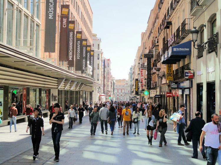 City centre shopping