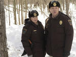 FARGO - Pictured: (L-R) Allison Tolman as Molly Solverson, Shawn Doyle as Vern Thurman. CR: Chris Large/FX