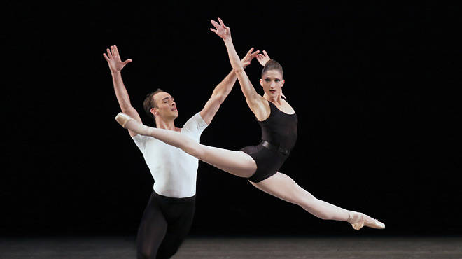 New York City Ballet's Ashley Bouder  and Tyler Angle in The Four Temperaments