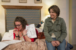 Kirsten Fitzgerald and Natalie West in Mud Blue Sky at A Red Orchid Theatre