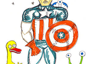 (Daniel Johnston, 'Captain America, the Duck & the Frog', 2009 / © Daniel Johnston / Courtesy Arts Factory)