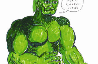 (Daniel Johnston, 'Hulk Feel Lonely Inside', 2012 / © Daniel Johnston / Courtesy Arts Factory)
