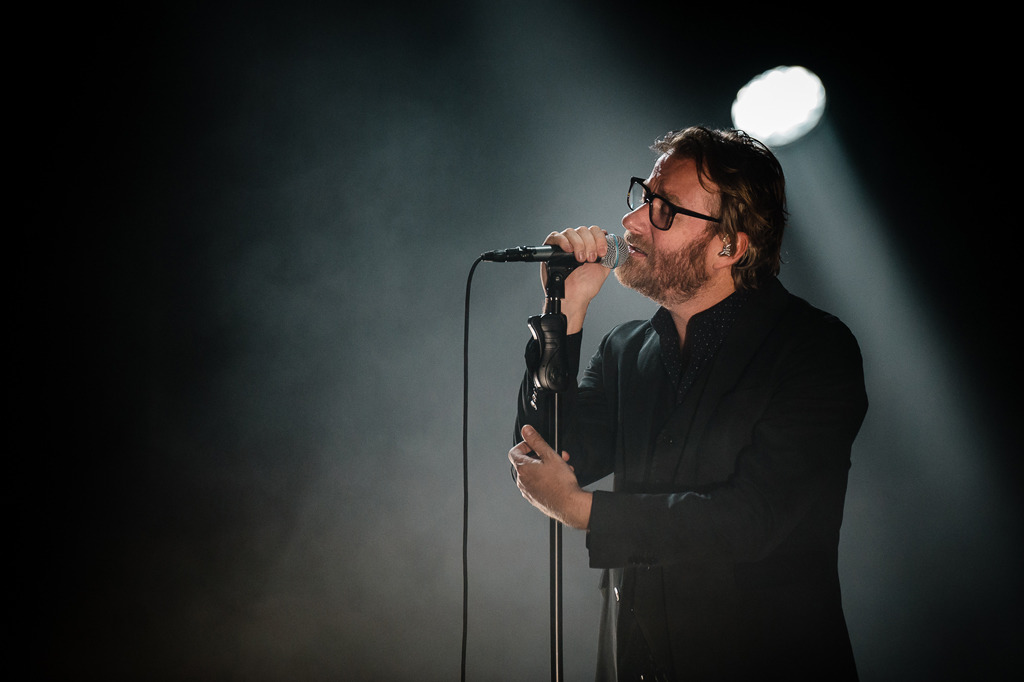 The National opens the first of four sold out shows at The Chicago Theatre on April 15, 2014.