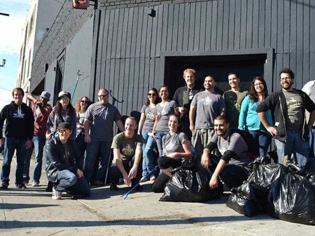 Angel City Brewery's Monthly Neighborhood Clean Up