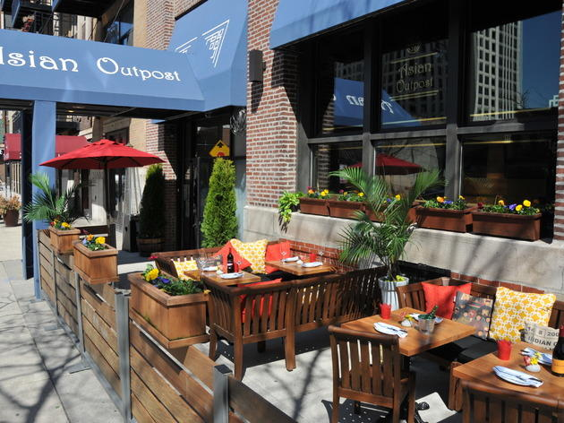 Asian Outpost has a 36-seat patio in the South Loop.