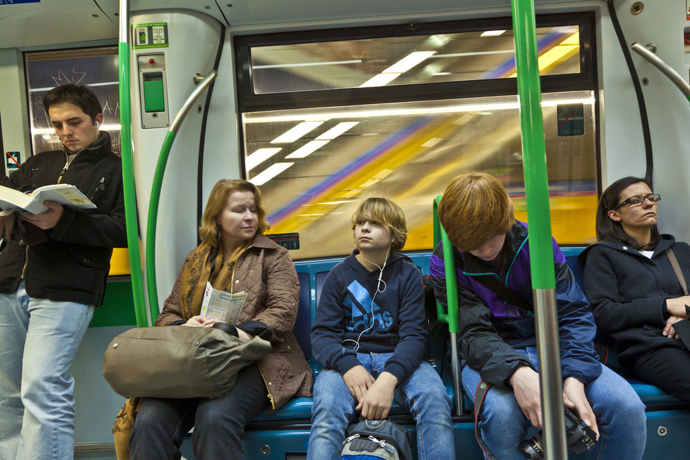 Metro en Madrid
