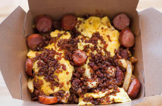 Breakfast Poutine at The Big Cheese Poutinerie