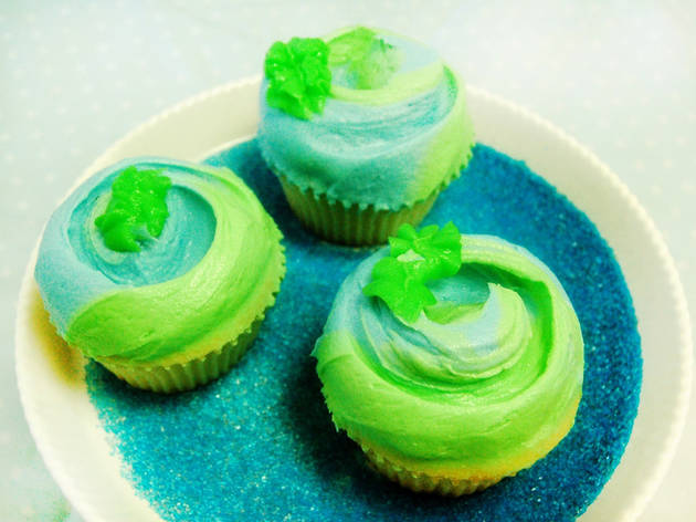 Magnolia Bakery is offering a special Earth Day cupcake on Tuesday.