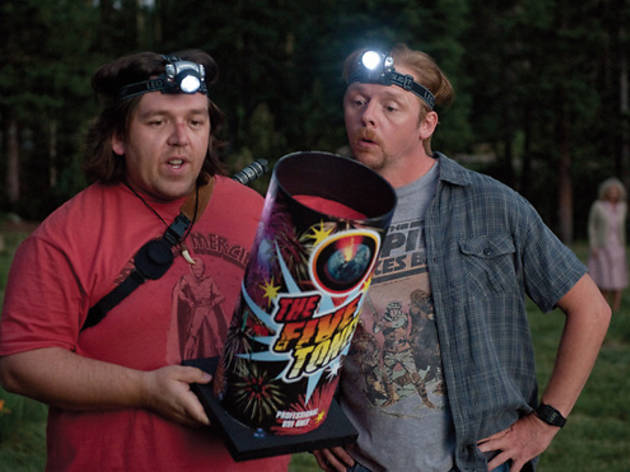 Nick Frost and Simon Pegg in <em>Paul</em>