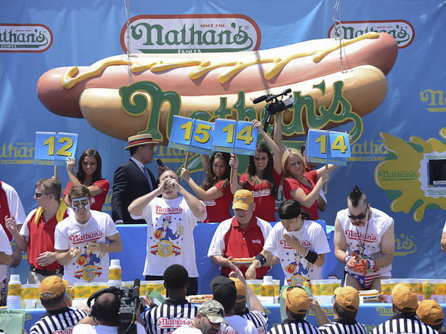 Nathan's Famous Hot Dog Eating Contest.