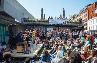 Busk The Box at Boxpark