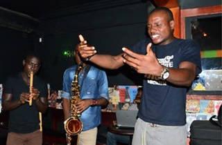 Kwame Write spoken word at Ehalakassa Nubuke Foundation