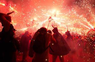 Fiestas de primavera de l'Hospitalet 2014: Noche de fuego