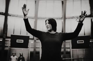 "Portrait of Marina Abramović (Marina conducting rehearsal for ""Bolero"" )"