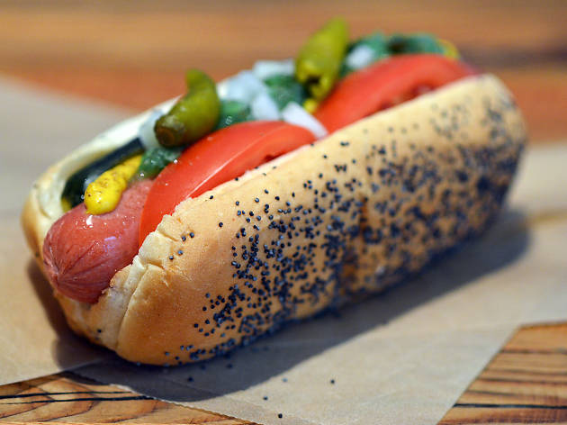 The classic Chicago-style hot dog is a beautiful thing.