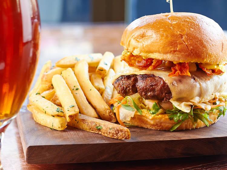 Kimchi Burger at Howells & Hood
