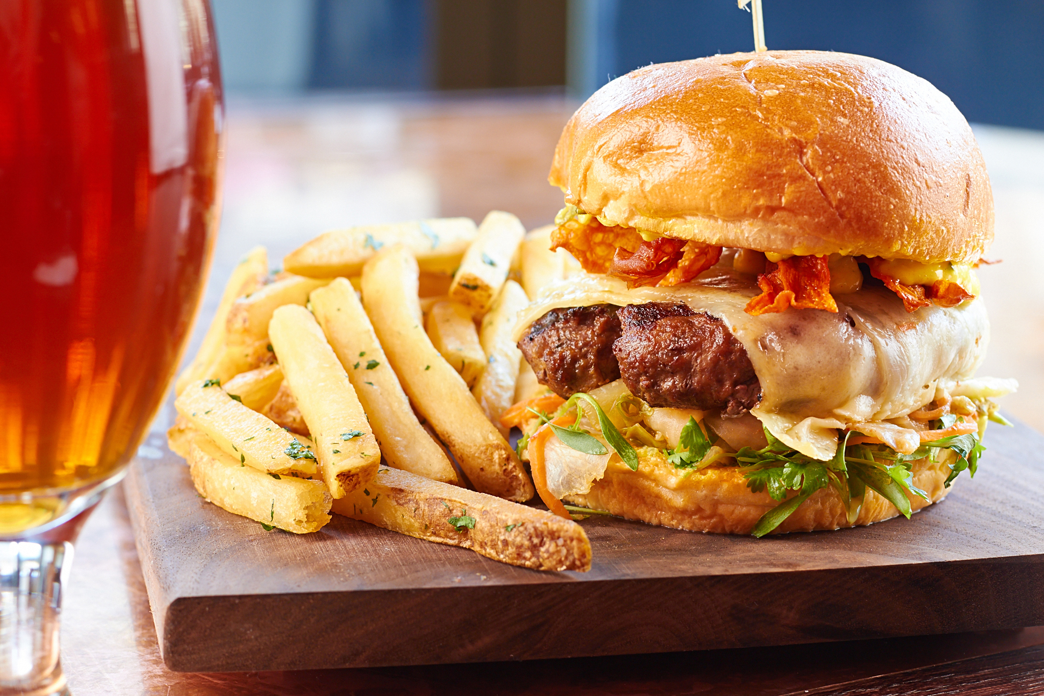 Kimchi Burger at Howells & Hood.