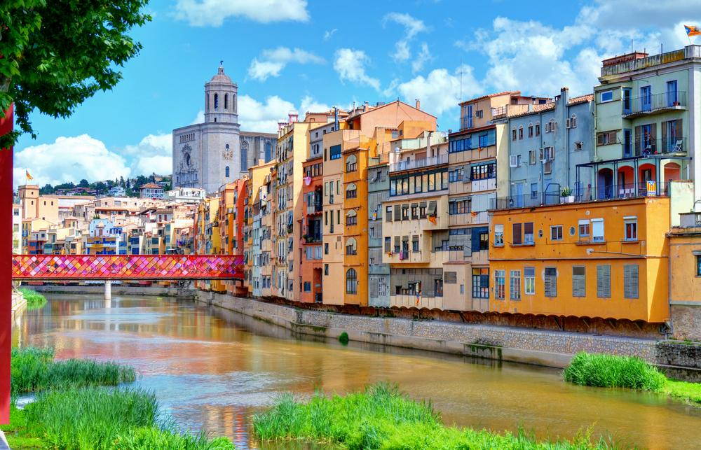 Riu Onyar a Girona durant el Temps de Flors