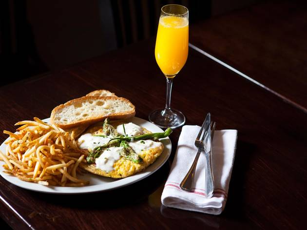 Frittata with a mimosa at Barbrix