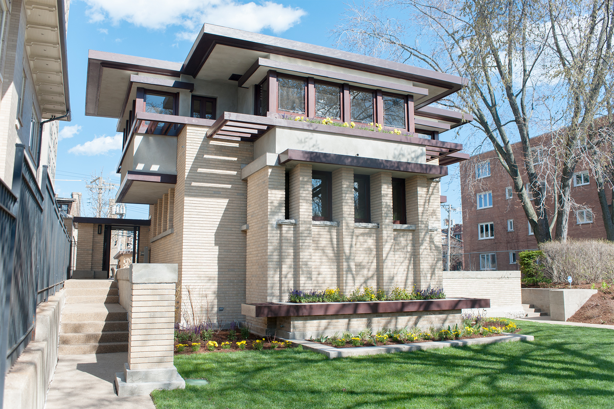 Built in 1915, the Emil Bach house in Rogers Park, designed by Frank Lloyd Wright, is now available for nightly rental or for private events.