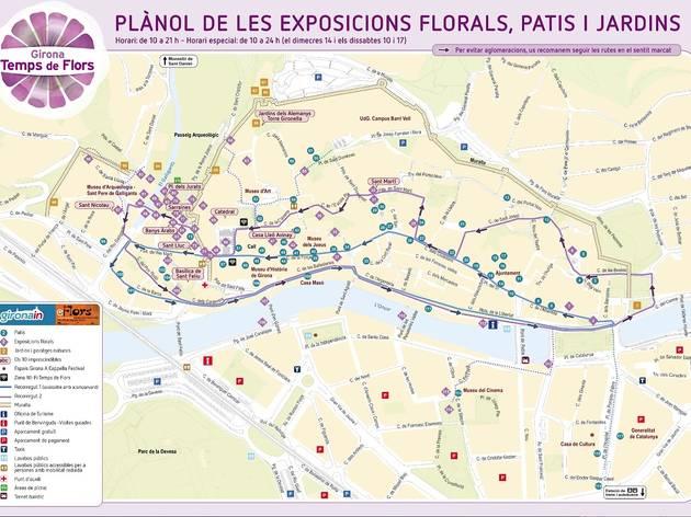 Plànol de Girona, Temps de Flors 2014