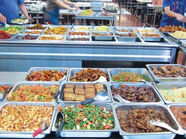 Be spoilt for choice at Guan Yin Monastery vegetarian chap fan
