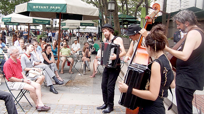 Bryant Park's Accordions Around the World performance series is back!