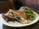 Grilled Cheese with truffle oil and cabbage at Sparrows Tavern