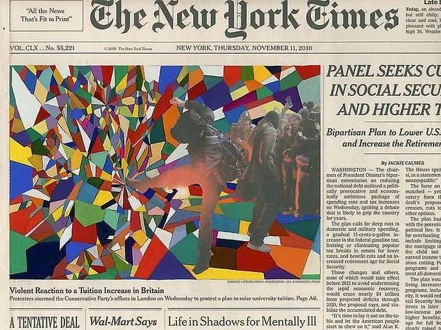 """Fred Tomaselli, """"Current Events"""""""