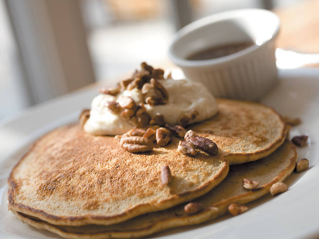 Whole wheat carrot pancakes at Kingsbury Street Café, Chicago, IL