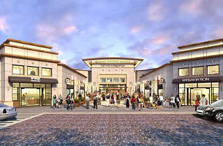 Rendering of the Mall at Bay Plaza