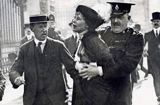 Mrs Pankhurst Arrested at Buckingham Palace!