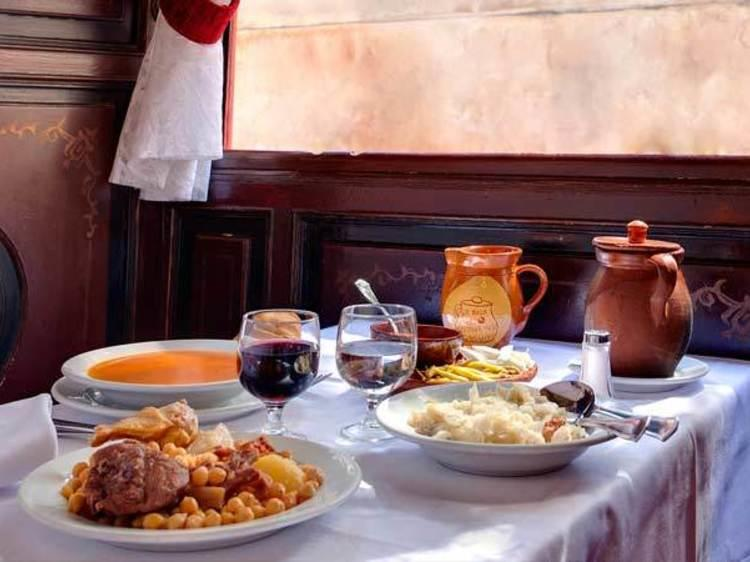 Traditional cuisine in Madrid