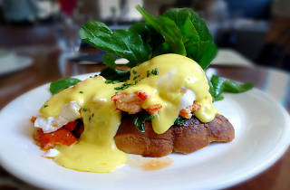 Lobster Eggs Benedict at Girasol.